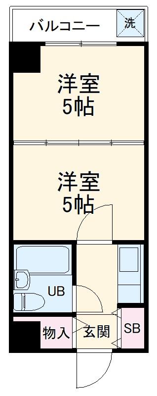 プリンセス豊田 201号室の間取り