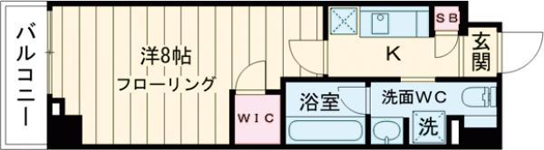 ステージファースト世田谷アジールコート・504号室の間取り
