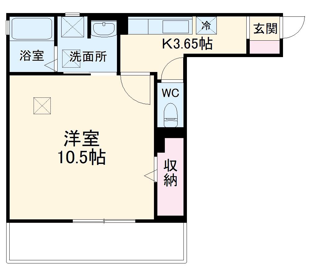 D-room八千代台・205号室の間取り