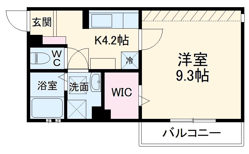 D-room八千代台・206号室の間取り