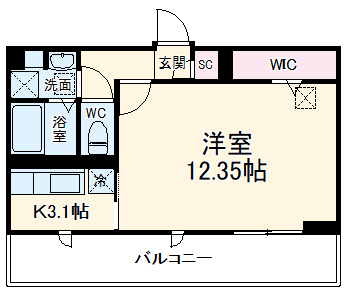 D-room八千代台・303号室の間取り