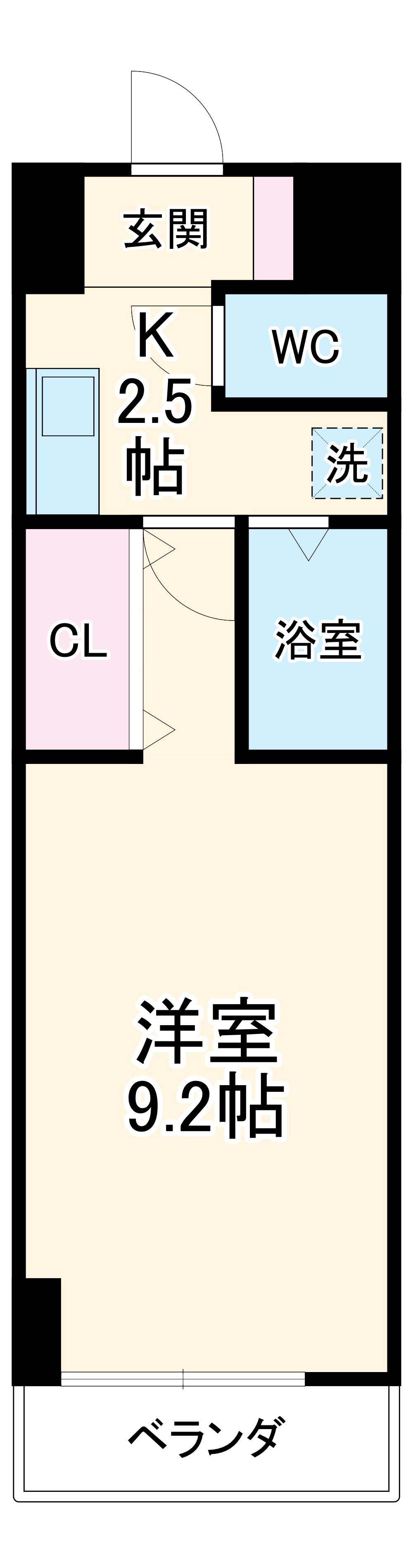 A・City三河安城東町 420号室の間取り