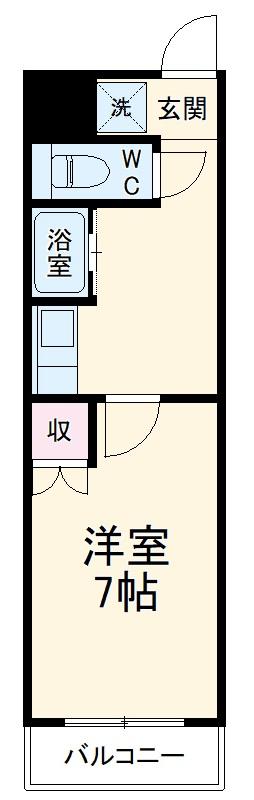 i-room丸山町 106号室の間取り
