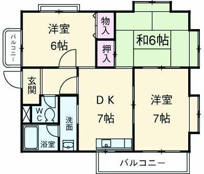 ウッドガーデン東戸塚A 101号室の間取り