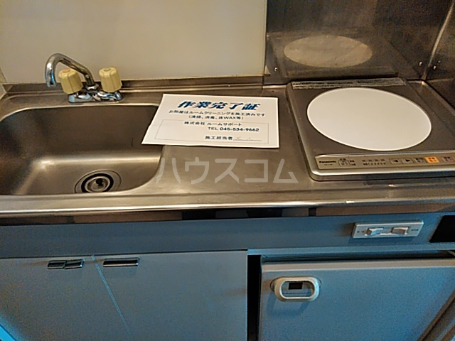 ベイハウス 202号室のキッチン