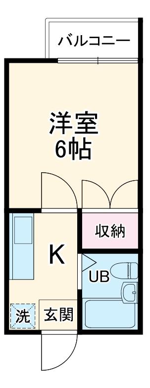 昭和記念荘 102号室の間取り