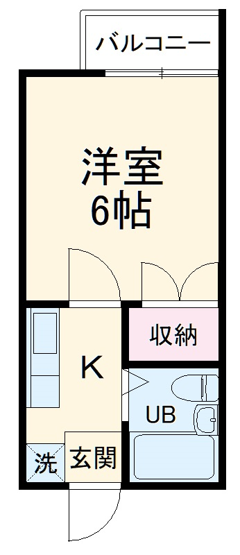 昭和記念荘・202号室の間取り