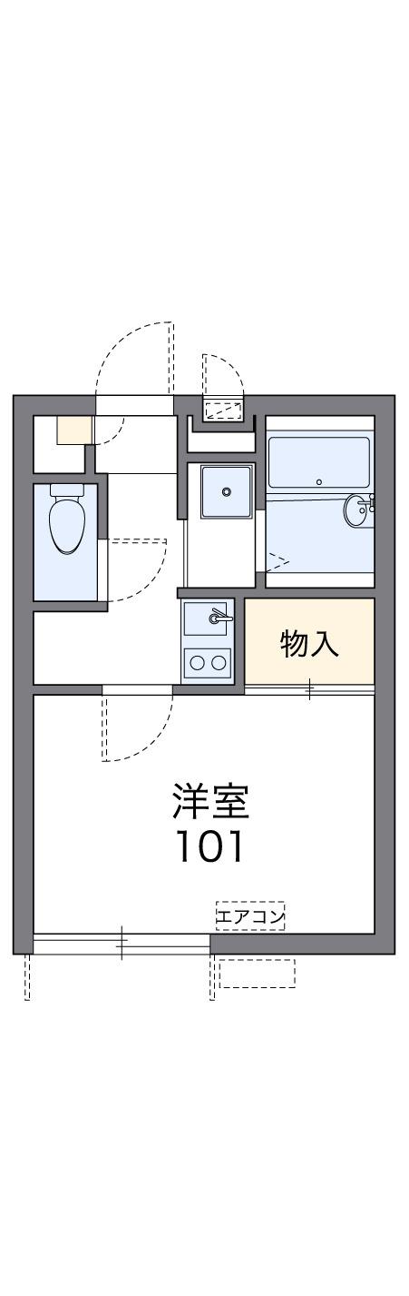 レオパレスケンジ 202号室間取り図