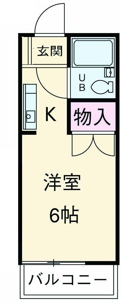 ドリームハウス鶴川・202号室の間取り