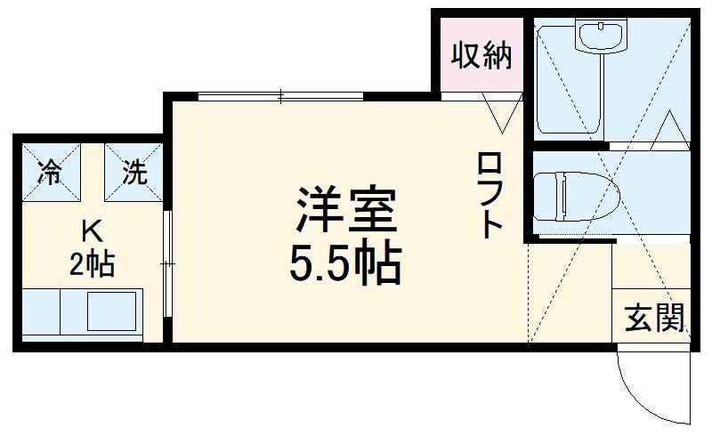 オウルハイツ横浜・101号室の間取り