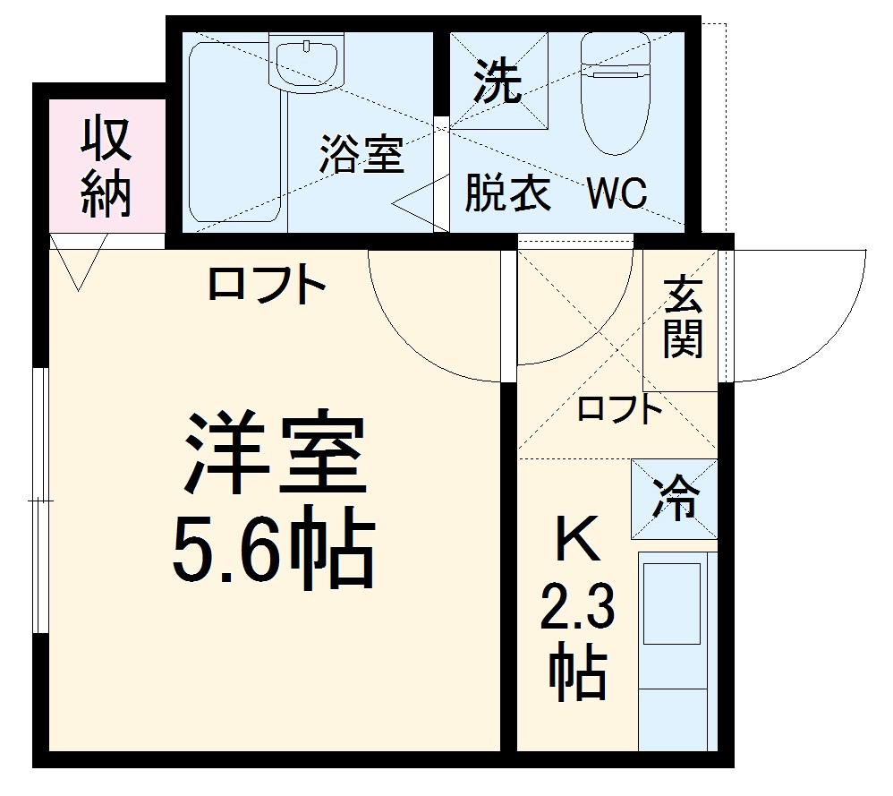 オウルハイツ横浜・103号室の間取り