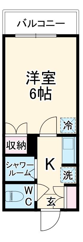グリーンピア富岡Ⅰ・1306号室の間取り