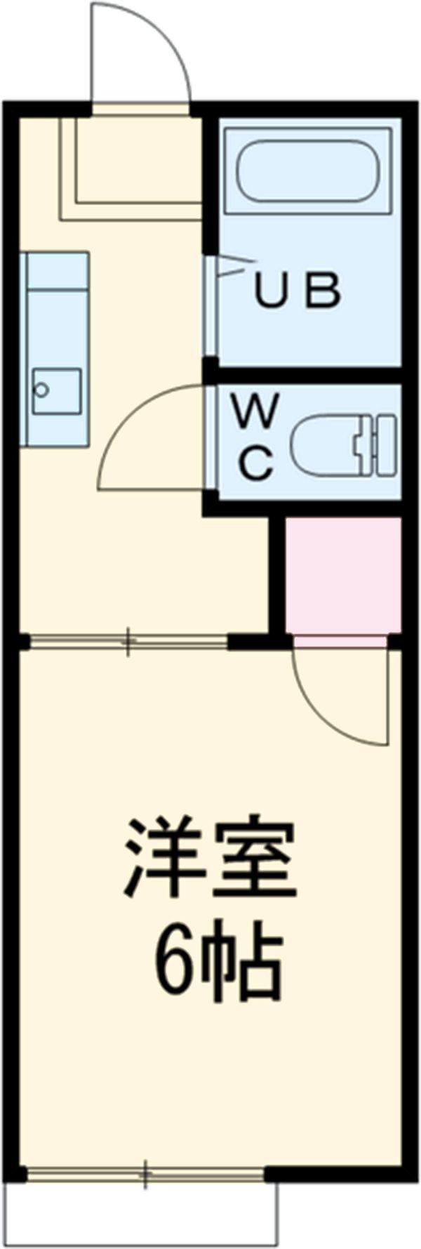 第二サフランハイツ 1-G号室の間取り