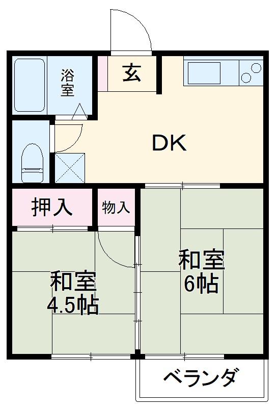 佐藤アパート 203号室の間取り