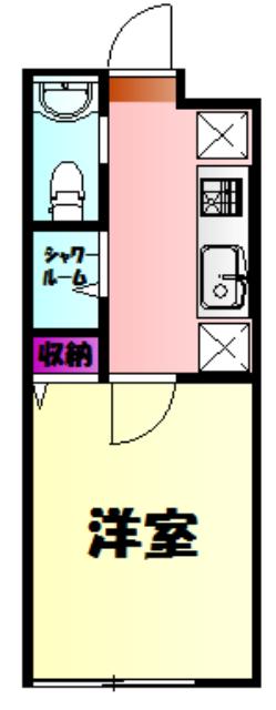 アイビーⅤ 108号室の間取り