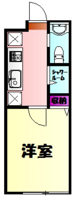 アイビーⅤ 203号室の間取り
