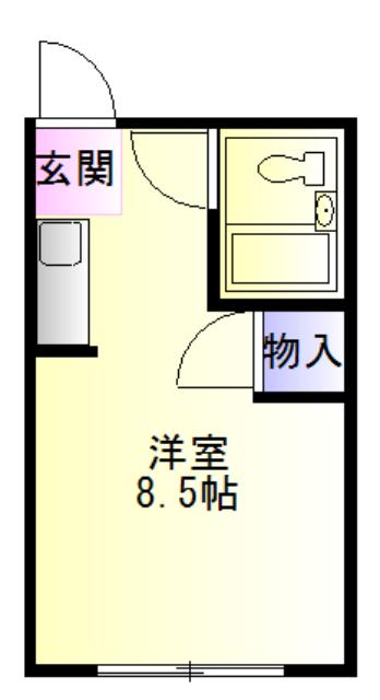 赤堀マンション・105号室の間取り