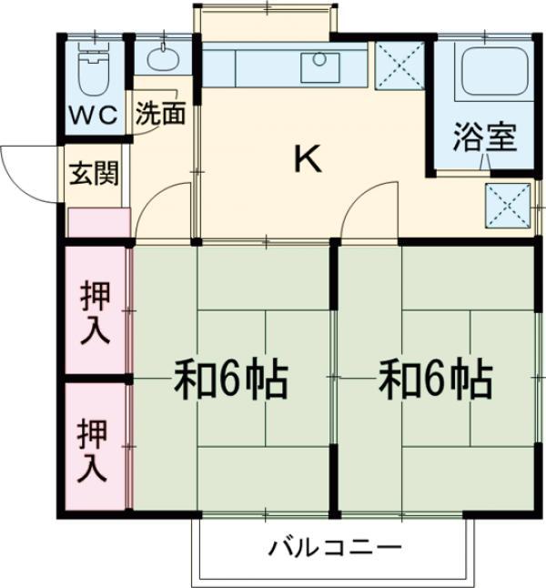 米山アパート・201号室の間取り