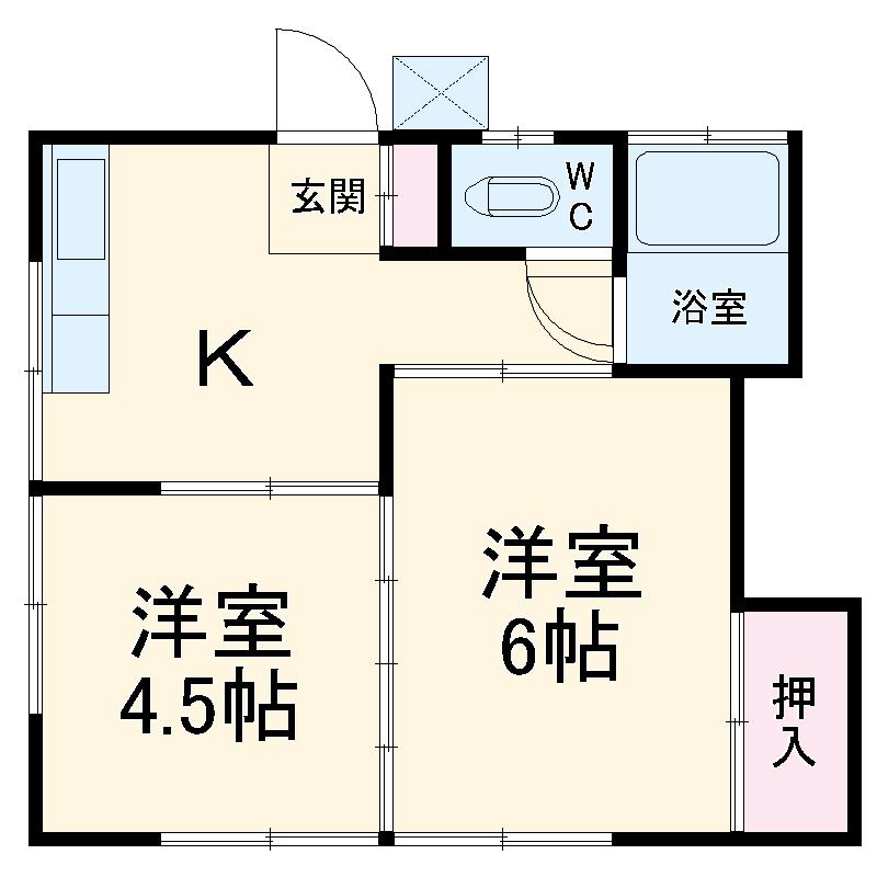 長崎荘 102号室の間取り