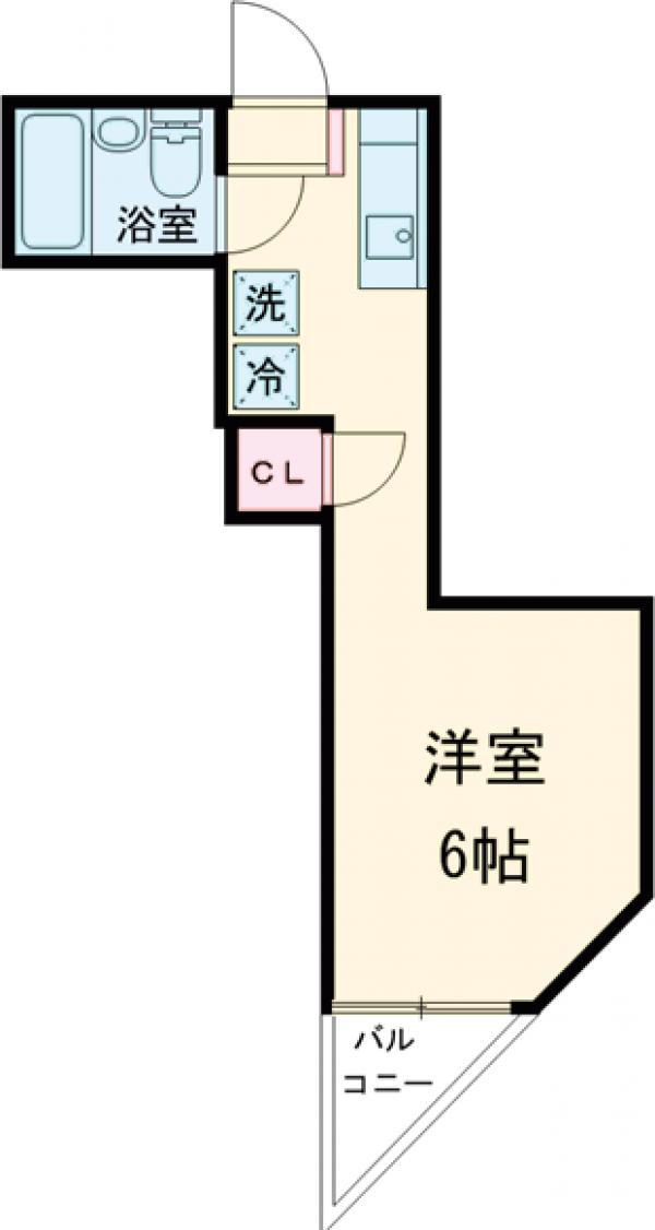 高ヶ坂橋ビル 202号室の間取り