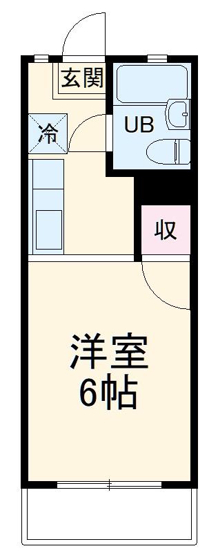 メゾン上倉田・203号室の間取り
