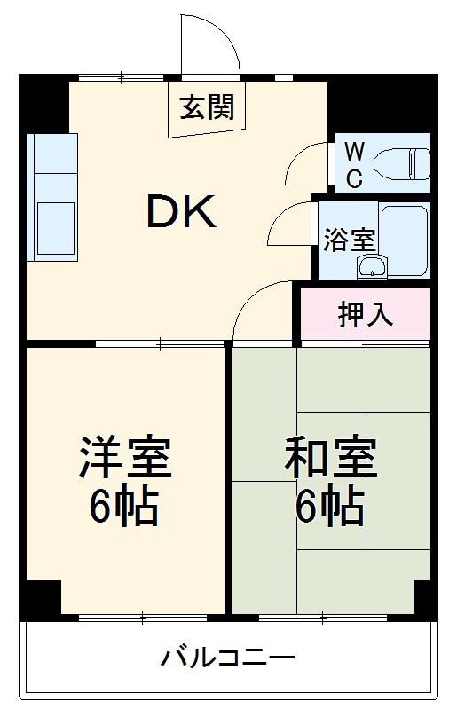 パークサイドマンション・303号室の間取り