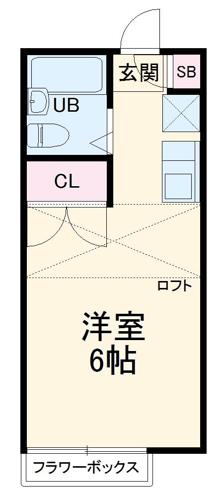 ピュア戸塚・203号室の間取り