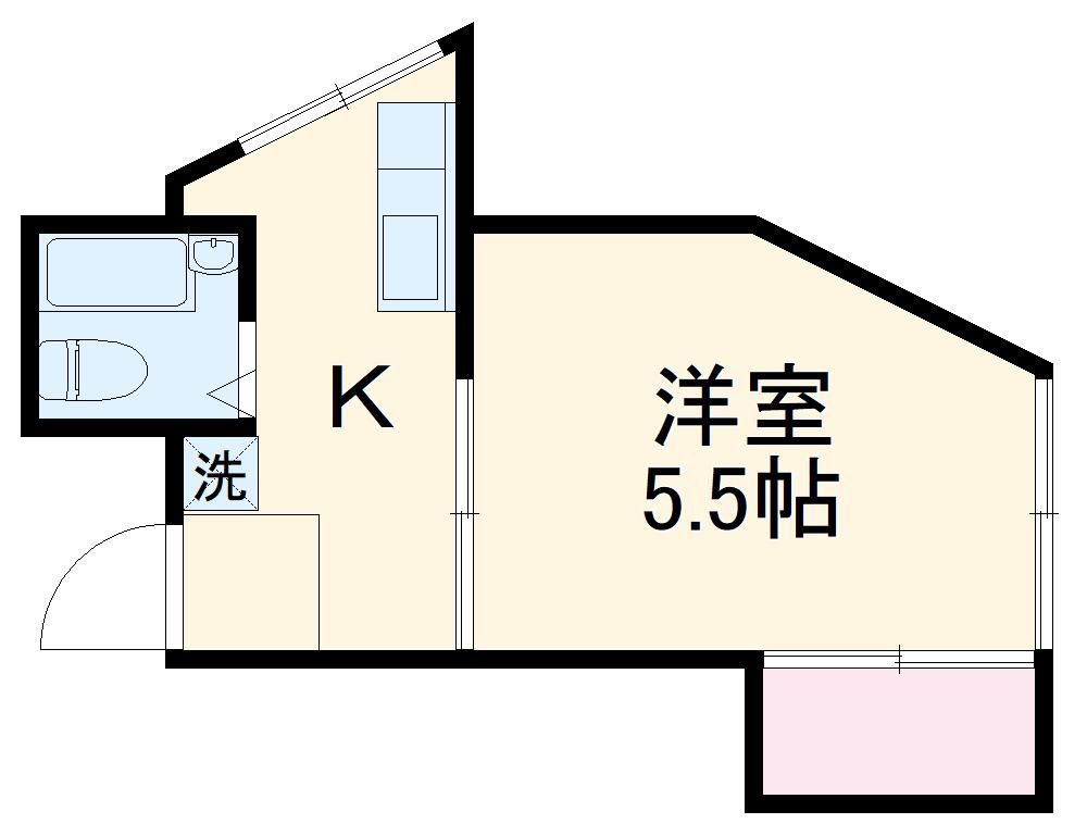 近藤荘・1号室の間取り