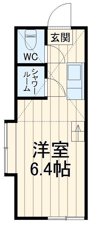 ユナイトステージ井土ヶ谷弐番館・201号室の間取り