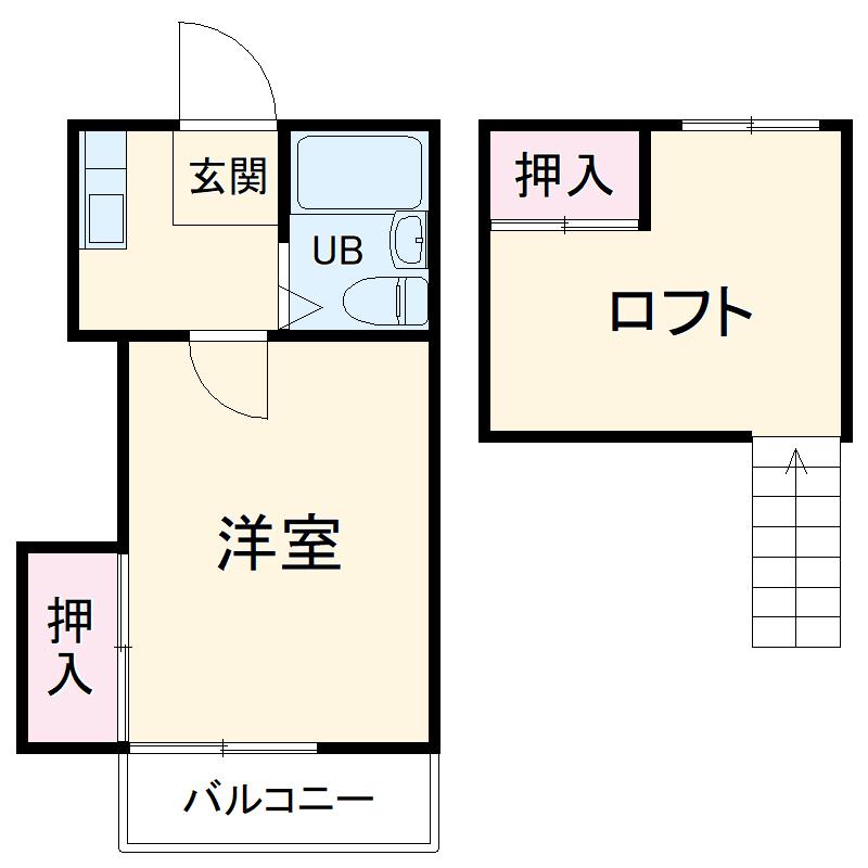 コーポミヨシ富岡・102号室の間取り