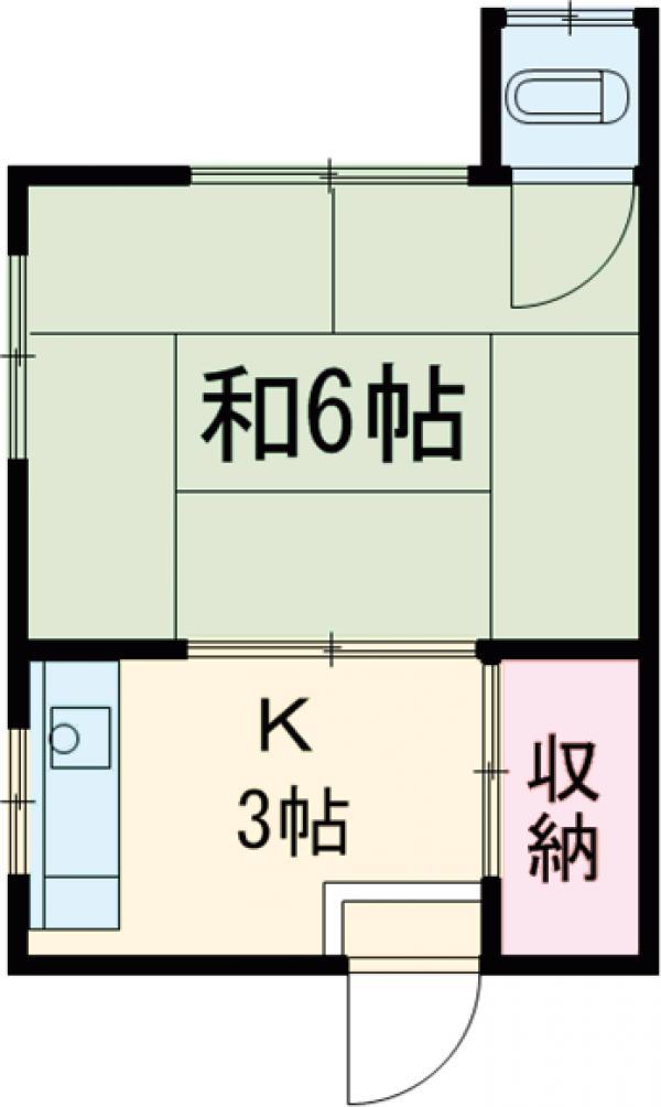 桐ヶ谷荘・8号室の間取り