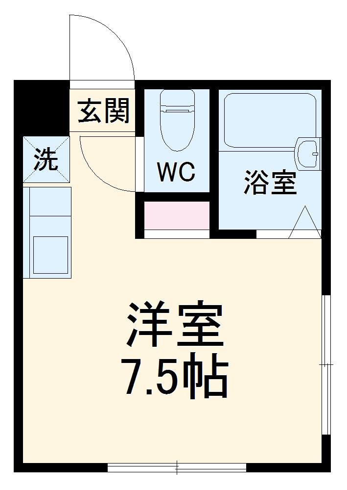 横浜元町ガーデンⅢ 101号室の間取り