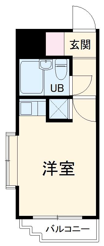 スカイコート横浜弘明寺・305号室の間取り