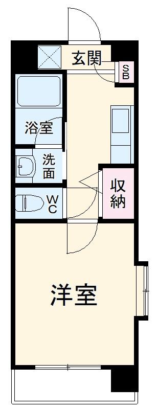 横浜元町ガーデン16・201号室の間取り