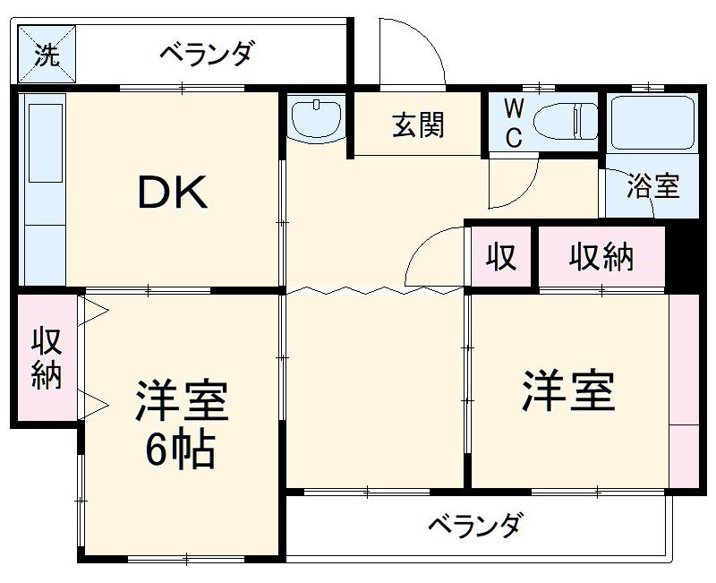 鎌倉様貸家 2号室の間取り