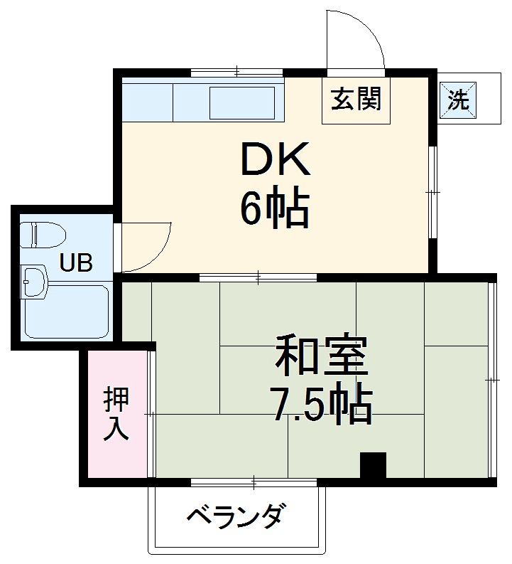 新海ビル 2-A号室の間取り