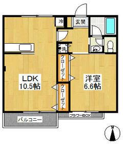 第三代田ハイツ 102号室の間取り