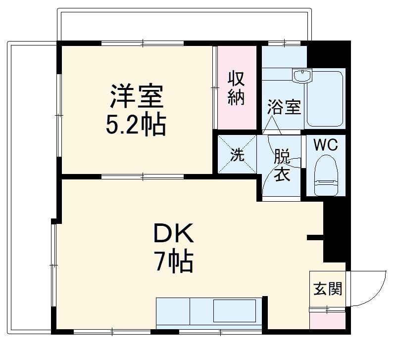 第3野本ビル 111号室の間取り