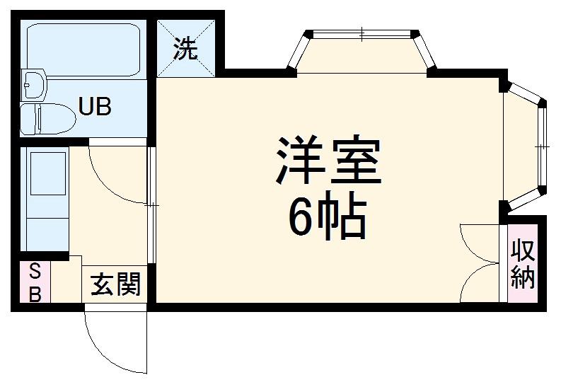 ブルーグレイス永田東Ⅰ 105号室の間取り