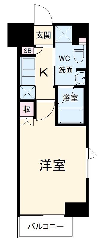 ルーブル横濱南太田 602号室の間取り