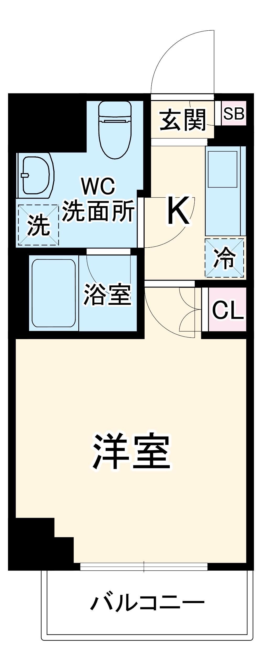 ルーブル横濱南太田 407号室の間取り