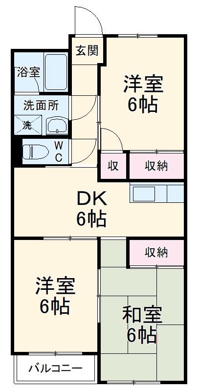 千代田マンション中村 303号室の間取り