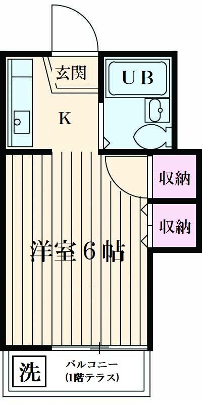 山荘村田・106号室の間取り