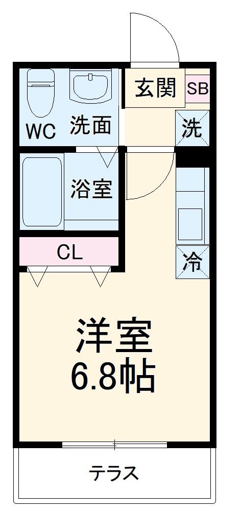 ハーミットクラブハウス大船ⅢC棟(仮)・102号室の間取り