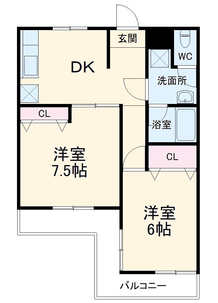 第二セーフズマンション・403号室の間取り