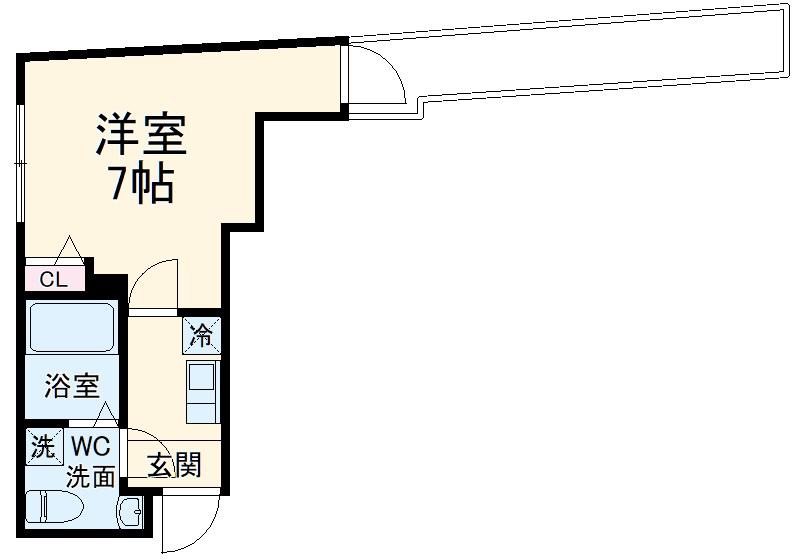 グリーンハイツ西横浜 203号室の間取り