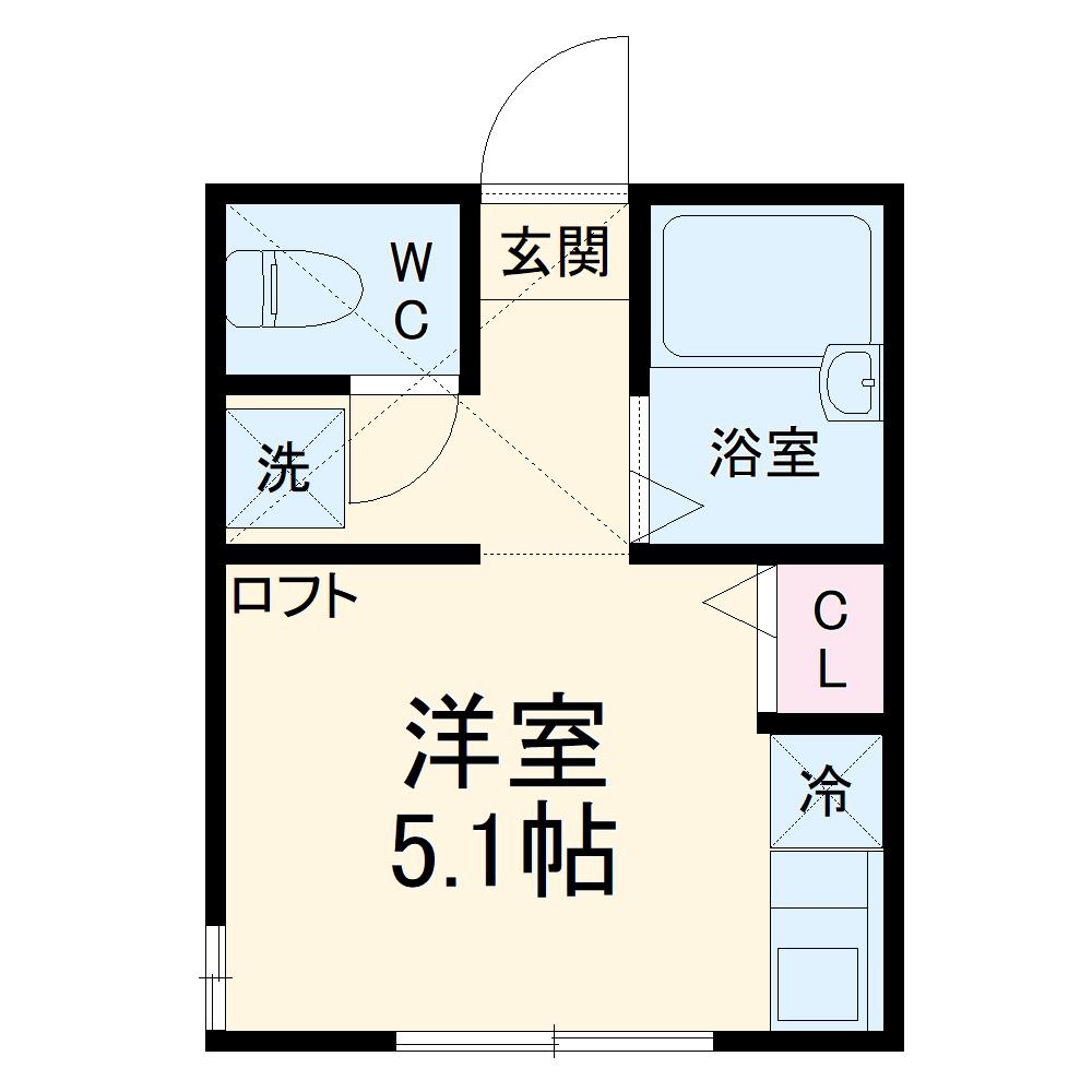 LOFTIA井土ヶ谷下町七番館 102号室の間取り
