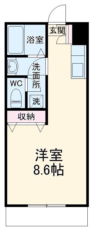 ベルグラン吉田C 2-D号室の間取り