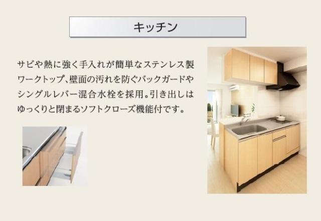 Affluent(アフルエントゥ) 203号室のキッチン