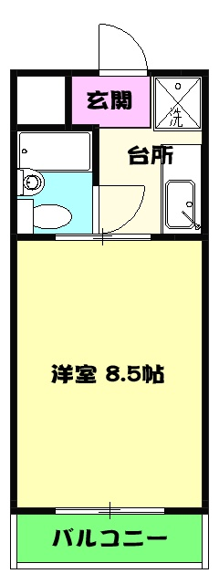 富士見ハイツ・202号室の間取り